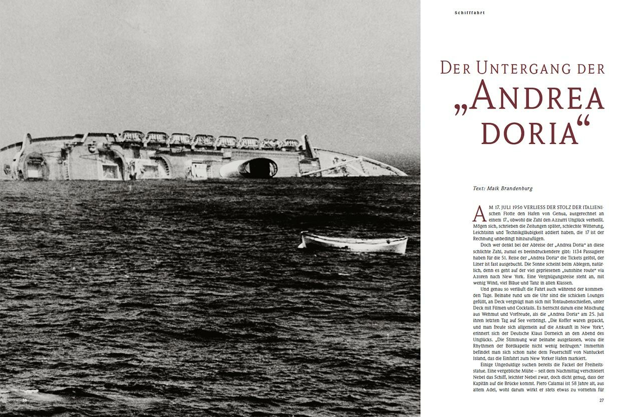 """Der Untergang der """"Andrea Doria"""""""