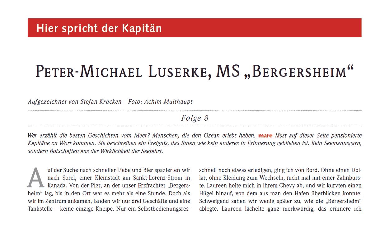 "Peter-Michael Luserke, MS ""Bergersheim"""