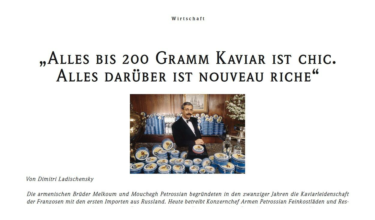 """Kaviar II: """"Alles bis 200 Gramm Kaviar ist chic"""""""